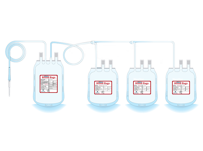 Quadruple Blood Bag